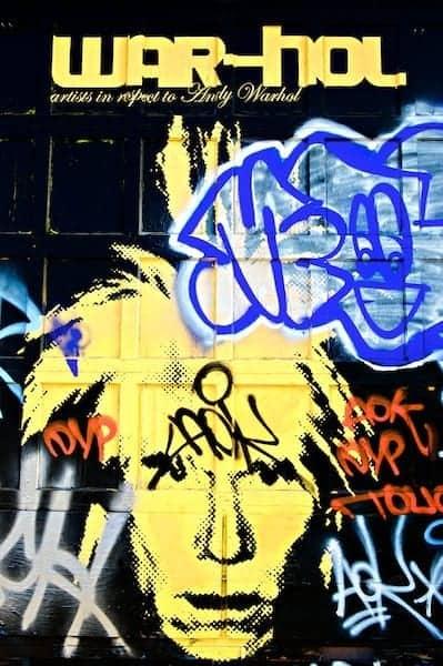 Graffiti art in Orlando of Andy Warhol