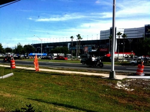 Daytona International Speedway viewed from Hooters