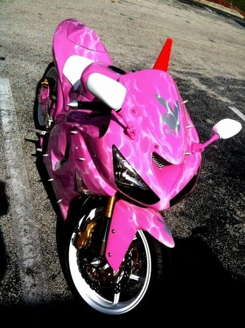 Pink Sportbike with spikes