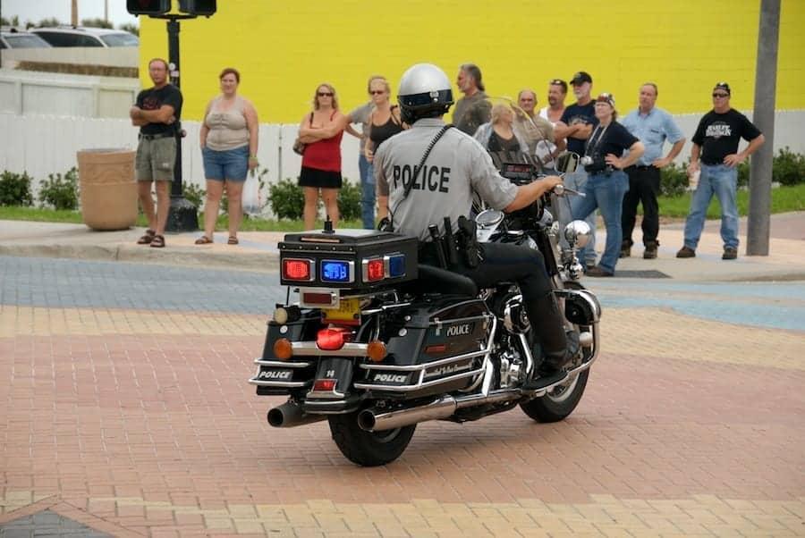 Daytona motorcycle officer during Bike Week
