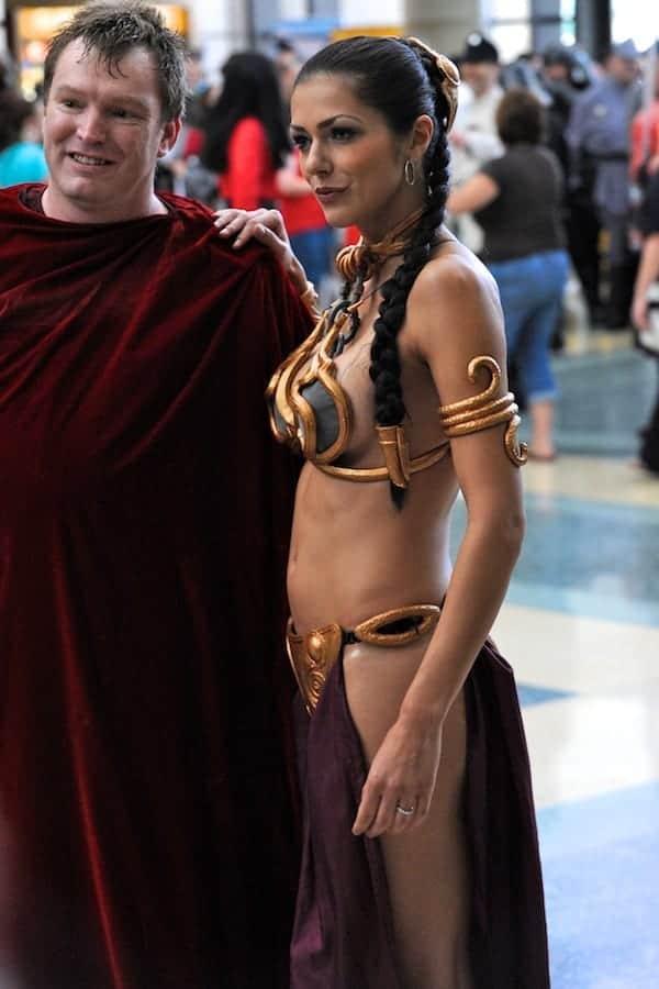 Adrianne Curry as Slave Princess Leia - SWCV