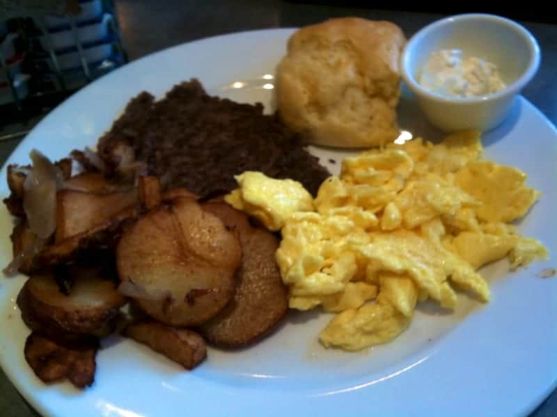 Breakfast at Peach Valley Cafe