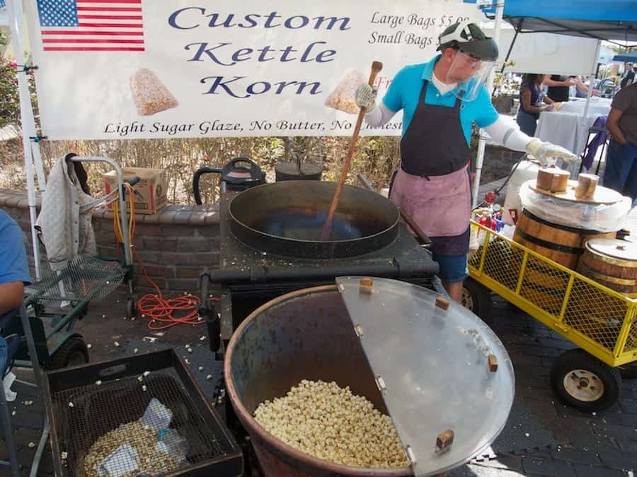 Custom Kettle Korn being cooked at Sanford Farmer's Market