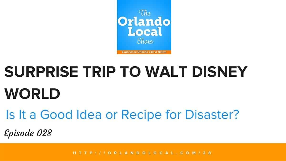 Surprise Trip to Walt Disney World