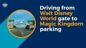 Driving  to Magic Kingdom Parking (Video)